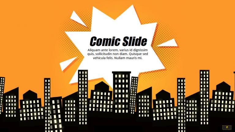 Comic buch Präsentationsthema Für Google Slides
