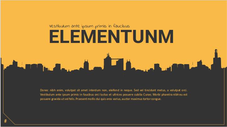 Elementum Präsentationsthema for Google Slides